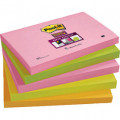 POST-IT Supersticky Pack 5 blocs 90h Neon surtidos 76x127mm