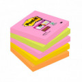 POST-IT Super Sticky Pack 5 blocs 90h Neon surtidos 76x76mm 70005253193