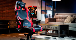 silla gaming de color rojo